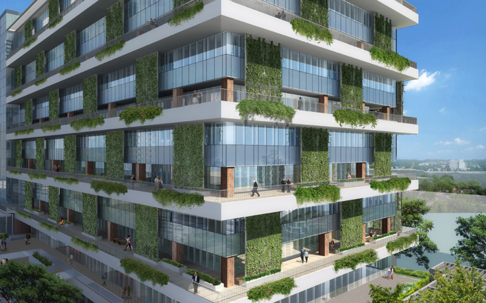 Jem Landscaped Sky Terraces On The Office Building