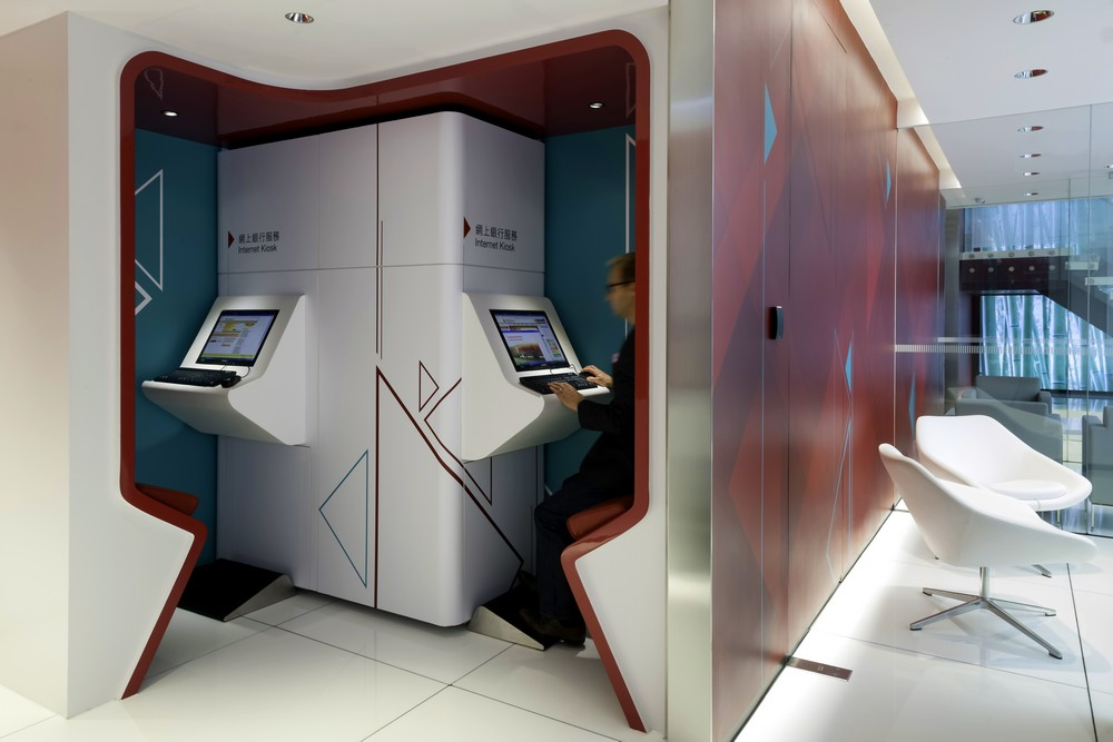 One Space_Retail Design_Bank of China_ Concept Branch_RC_self-service kiosk