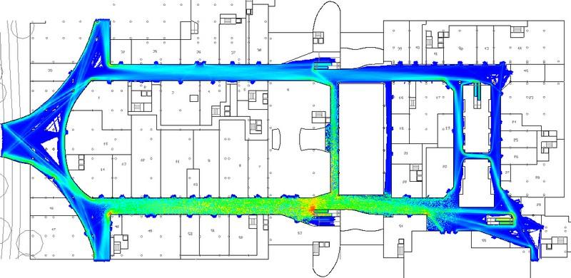 Pedestrian Movement Space Utilisation