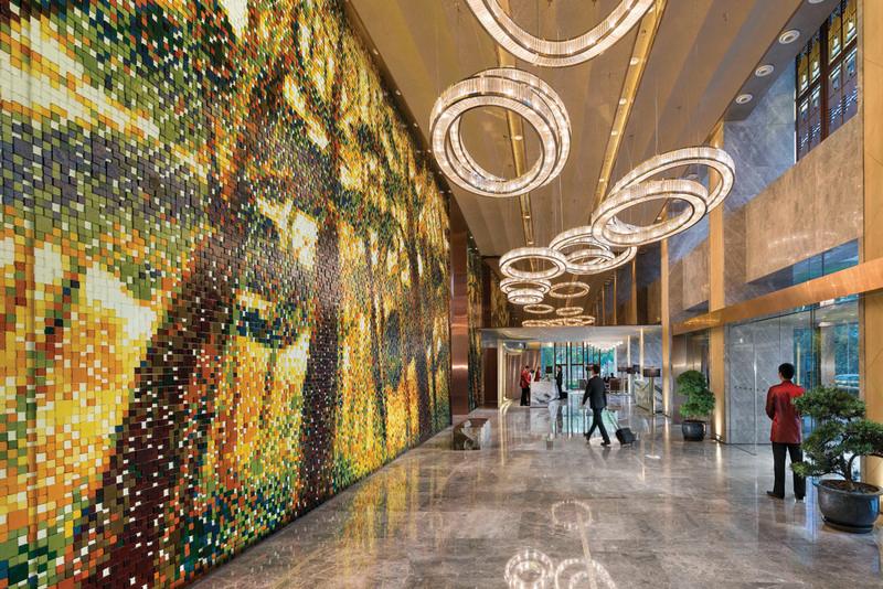 Lobby at Mandarin Oriental Pudong, Shanghai web