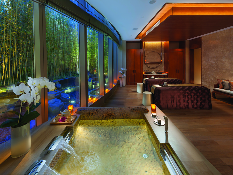 Spa Double Room at Mandarin Oriental Pudong, Shanghai