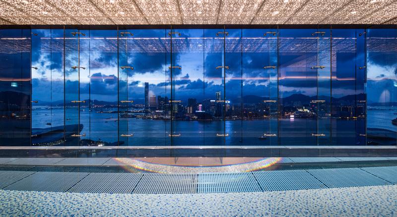 Night view of Skypool on 43rd Floor