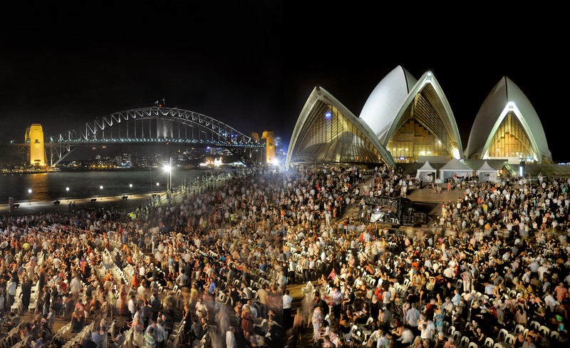 THE SYDNEY OPERA HOUSE -  4th February 2011 - Sydney, Australia  - Photograph by: JACK ATLEY / www.jackatley.com -  for The Sydney Opera House Trust - PIC SHOWS: Concert by Sting.