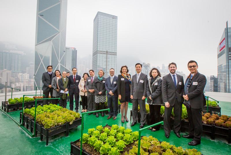 JLL Executives at BOA Tower Rooftop