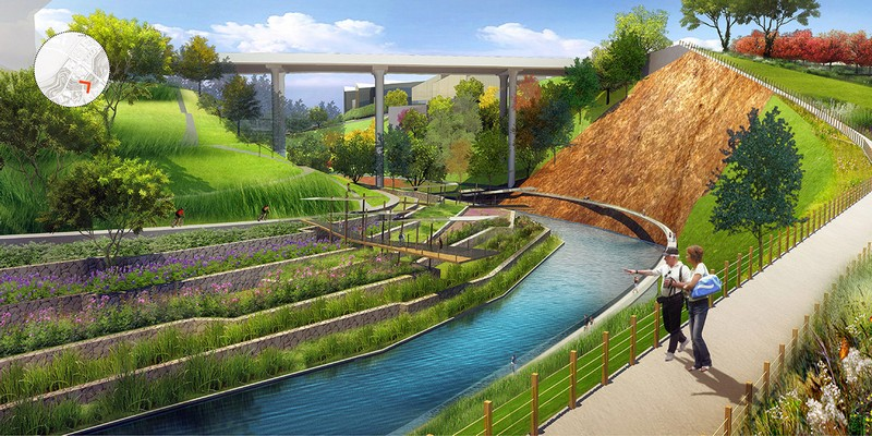 Best practices for river restoration and waterfront for Waterfront landscape design
