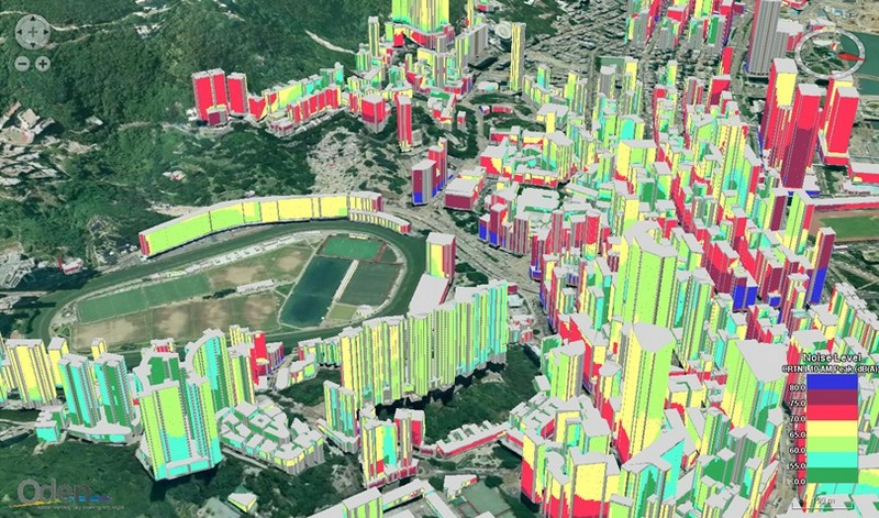 A noise map of Happy Valley