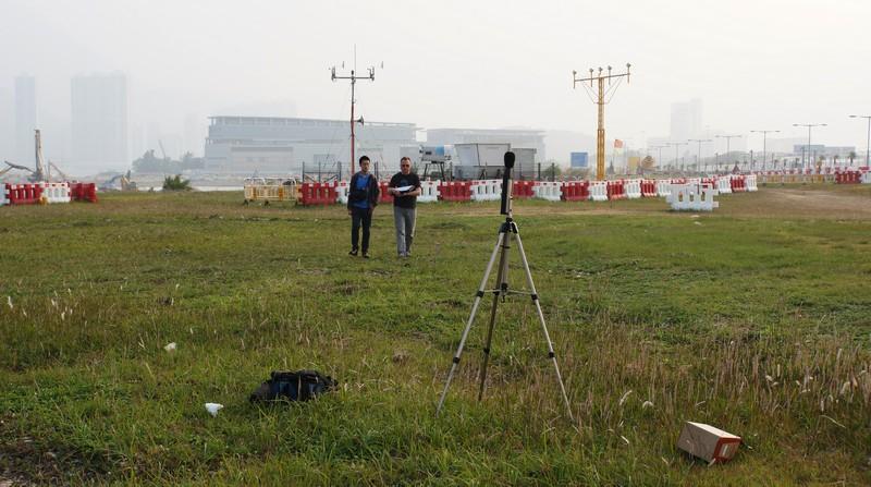 A noise monitoring setup at HKIA