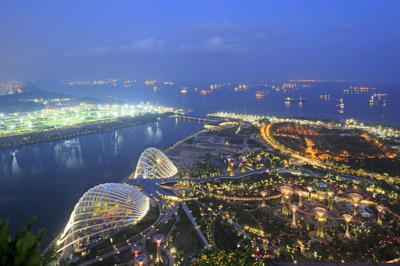 Bird's eye view Gardens by the Bay Singapore_(c) Darren Soh
