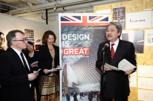 John Tsang speaks at Great by Design exhibition opening