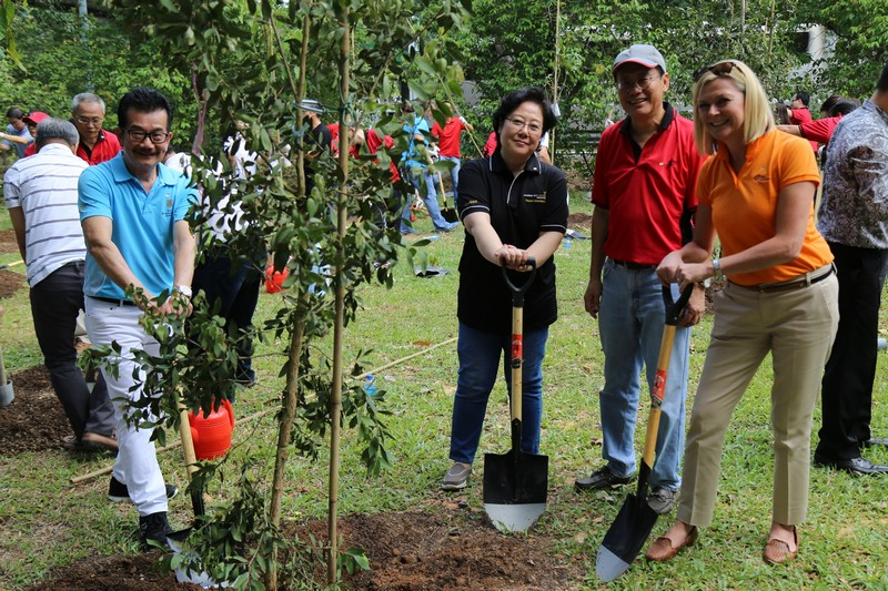 50 Trees Planted at Bedok Town Park as the Building and Construction Aut...