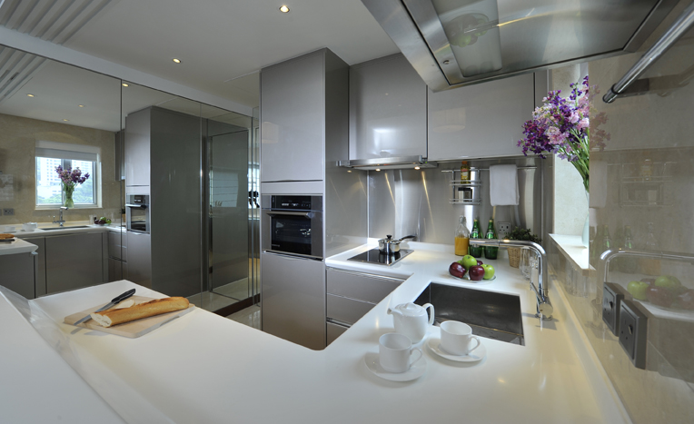 View of Kitchen at Shama Midlevels