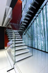 One Space_Retail Design_Bank of China_ Concept Branch_RC_staircase